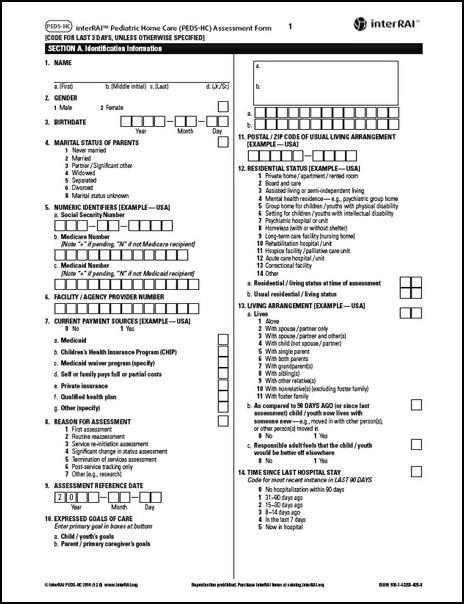 Nursing Assessment Form Samples